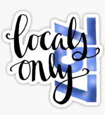 757 locals only Sticker