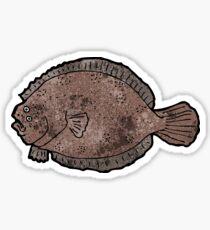 flat fish illustration Sticker