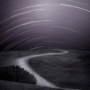 Night Sky Over Path by Kilbracken