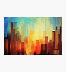 Urban sunset Photographic Print