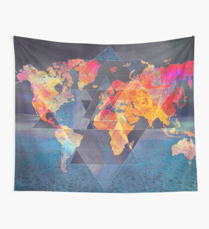 world map 32 sacred Wall Tapestry