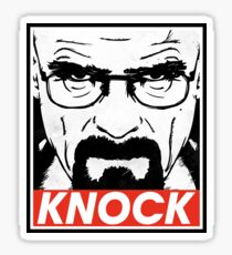 Heisenberg Breaking Bad Fanart - Knock by Mien Wayne Sticker