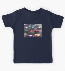 Colorful Valentine Heart Lights - Lomography Daguerreotype Achromat Photograph Kids Tee