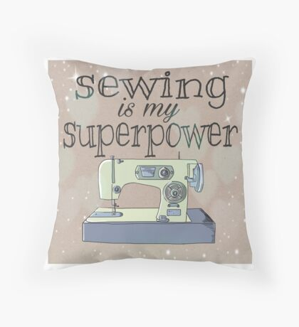 Sewing II Throw Pillow