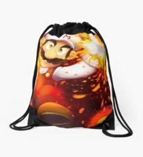 Epic Fire Mario Drawstring Bag