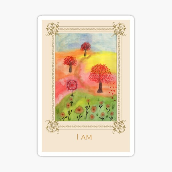 I am - Tree Affirmation Card Sticker