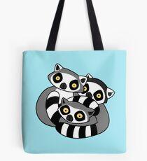 Cuddly Ring Tailed Lemurs Tote Bag