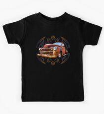 Pinstripe Rust Truck Kids Tee