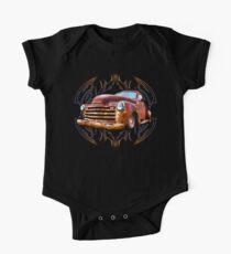Pinstripe Rust Truck One Piece - Short Sleeve