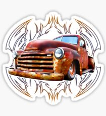 Pinstripe Rust Truck Sticker