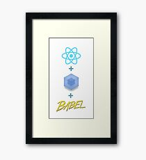 Frontend developer (react, webpack and babel) Framed Print
