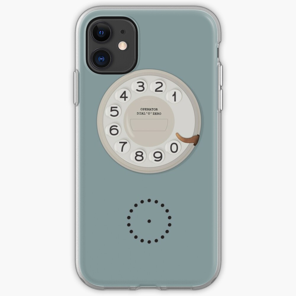 Vintage Dial Phone Blue iPhone Case & Cover