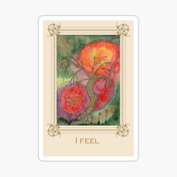 I feel - Tree affirmation card Sticker