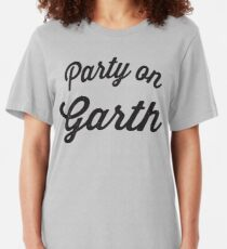 Party On Garth | Waynes World Best Friends Tees 1/2 Slim Fit T-Shirt