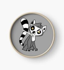 Curious Ring Tailed Lemur Clock