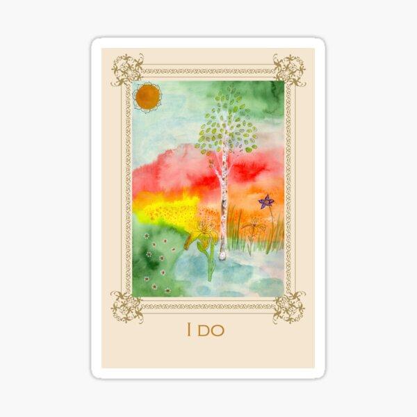 I do - Tree affirmation card Sticker