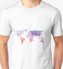 Watercolor World Map Unisex T-Shirt
