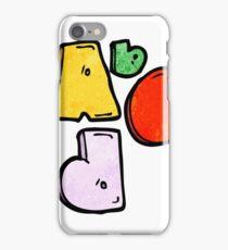 Abc cartoon symbol iPhone Case/Skin