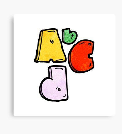 Abc cartoon symbol Canvas Print