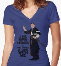 Star Wars - Chirrut Imwe I Am One With The Force And The Force Is With Me Women's Fitted V-Neck T-Shirt