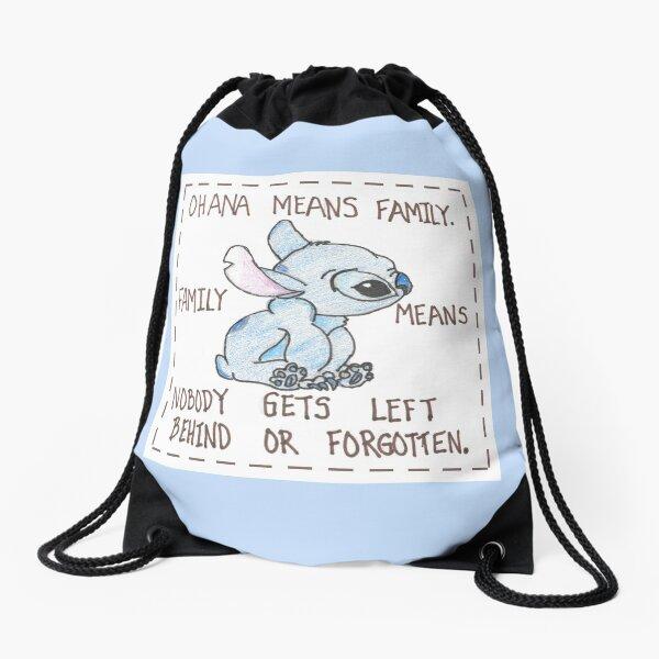 Lilo and Stitch Square Drawstring Bag