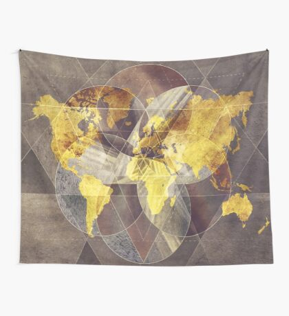 world map 35 sacred Wall Tapestry