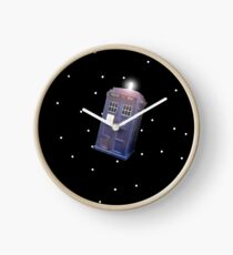 Police Box in Outerspace. Clock