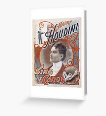 Harry Houdini Magician Greeting Card