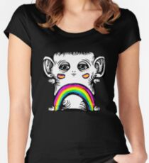 Rainbow Creature Fitted Scoop T-Shirt