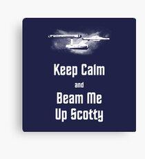Star Trek Keep Calm and Beam Me Up Scotty Canvas Print