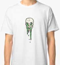 spooky skull symbol cartoon Classic T-Shirt