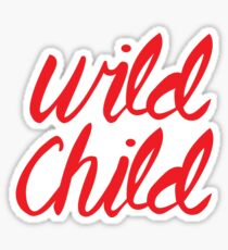 Wild Child (Red) Sticker