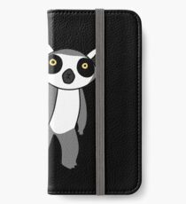 Ring Tailed Lemur Standing iPhone Wallet/Case/Skin