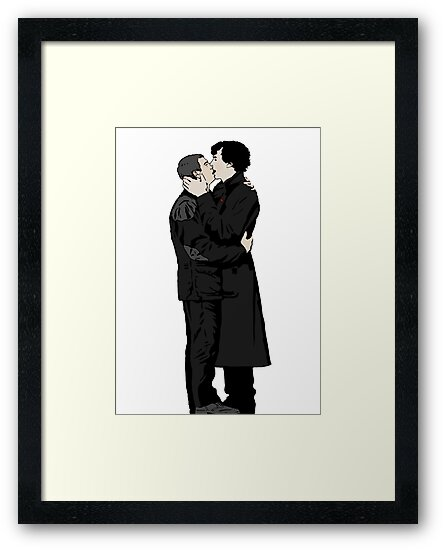 KISSING SHERLOCK AND JOHN by br0-harry