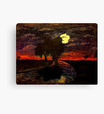 Sunset Willow Canvas Print