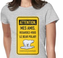 le bear polar sign/gold Womens Fitted T-Shirt