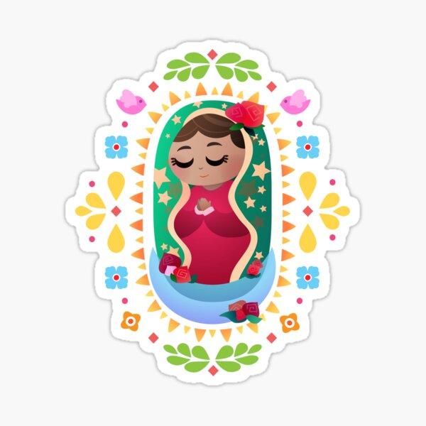 Mini La Virgen de Guadalupe Pegatina