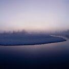 Winter - Moody Foogy River Panorama by visualspectrum