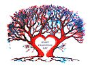 Valentines Loveheart Tree by Linda Callaghan