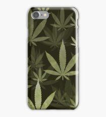 Marijuana Cannabis Weed Pot Pickle Green Background iPhone Case/Skin