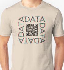 Punchcard data (QR, 3D) T-Shirt
