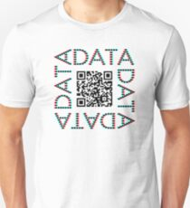 Punchcard data (QR, 3D) Unisex T-Shirt