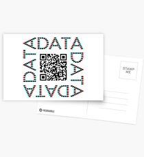 Punchcard data (QR, 3D) Postcards