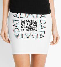 Punchcard data (QR, 3D) Mini Skirt