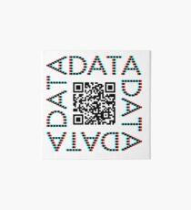Punchcard data (QR, 3D) Art Board