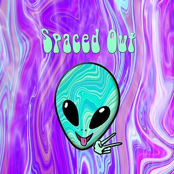 Spaced Out Psychedelic Alien by christensart