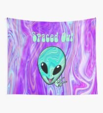 Spaced Out Psychedelic Alien Wall Tapestry