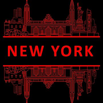 New York - Red by InitialSeven