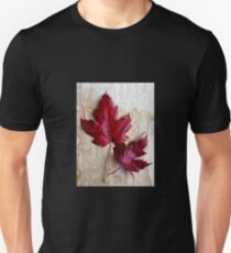 Red Autumn Leaves Unisex T-Shirt