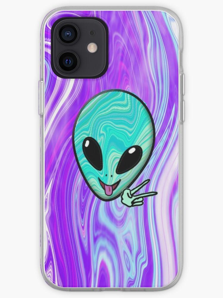 Cas de téléphone extraterrestre psychédélique | Coque iPhone